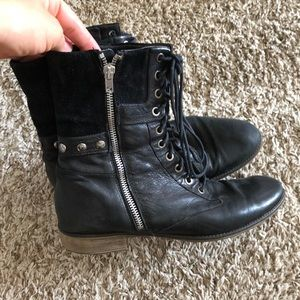 Boutique 9 black leather zip up ankle boots